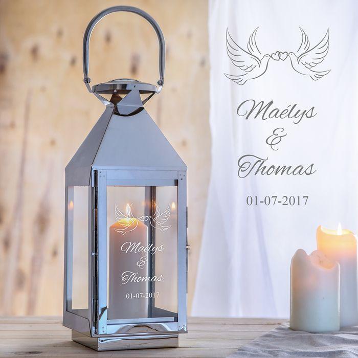 Élégante lanterne d'amour