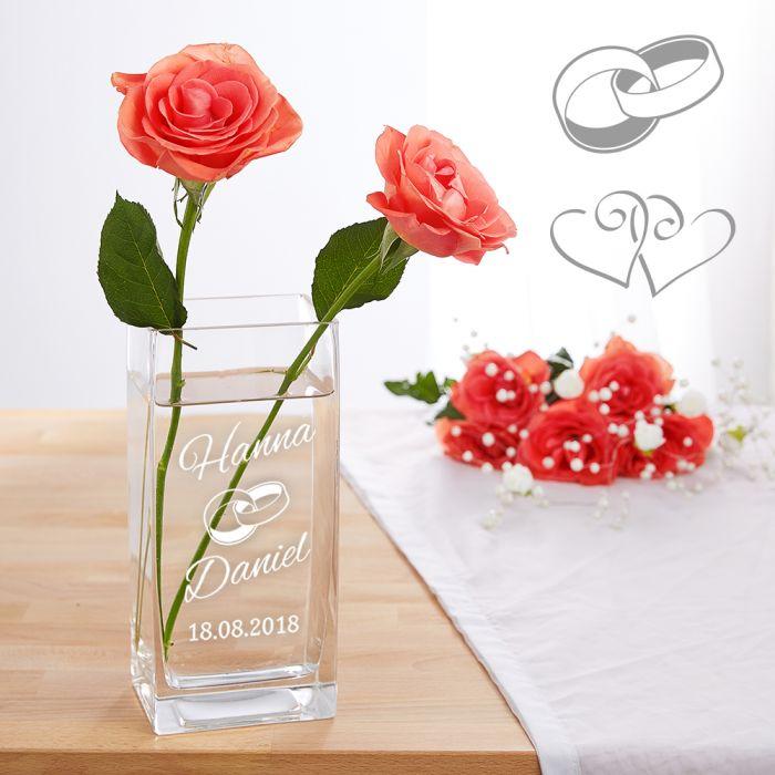 Vase Zur Hochzeit Personalisiert Individuelles Hochzeitsgeschenk
