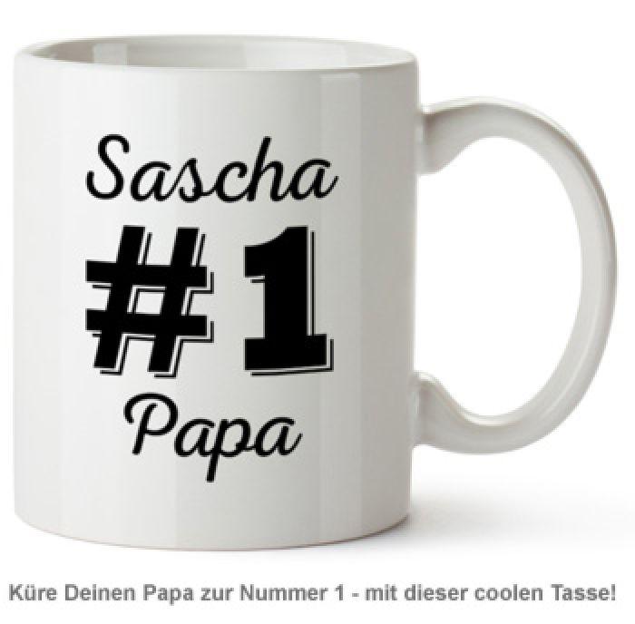 Personalisierte Tasse - Nummer 1 Papa - mit Namen des Vaters