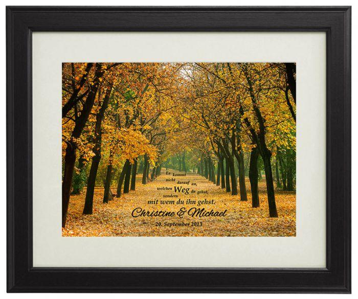 Gemeinsamer Weg Herbstbild - personalisiert