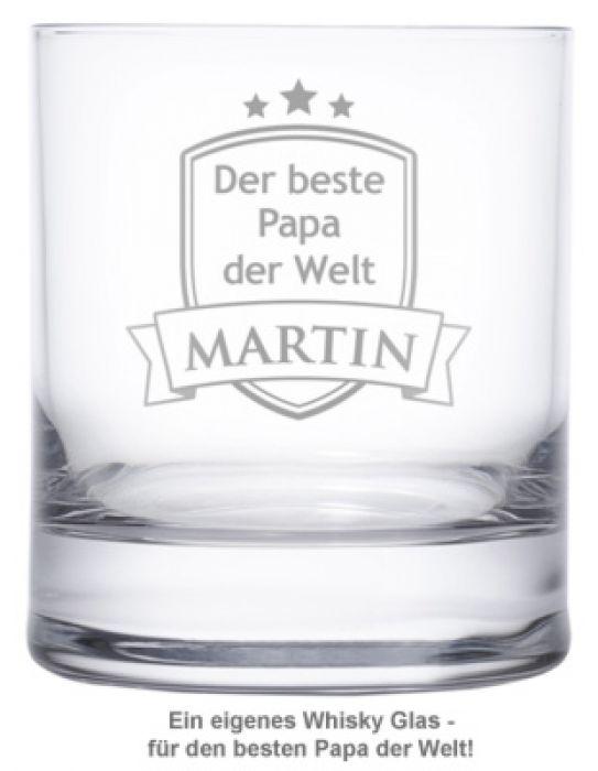 Whiskyglas mit Gravur - Bester Papa