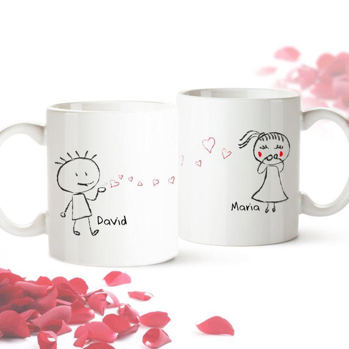Set de 2 mugs personnalisés – Couple d amoureux 798e8e8b1d3