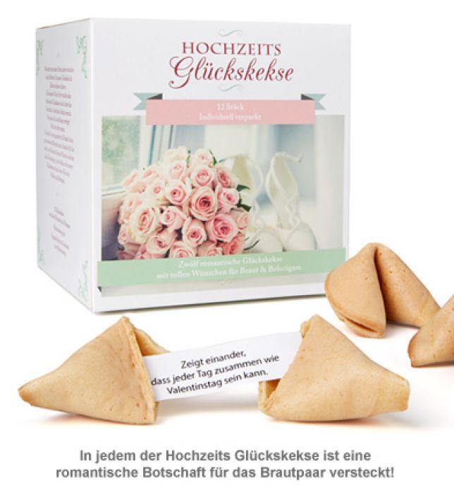 Hochzeits Gluckskekse Geschenkbox Mit 12 Tollen Liebesbotschaften