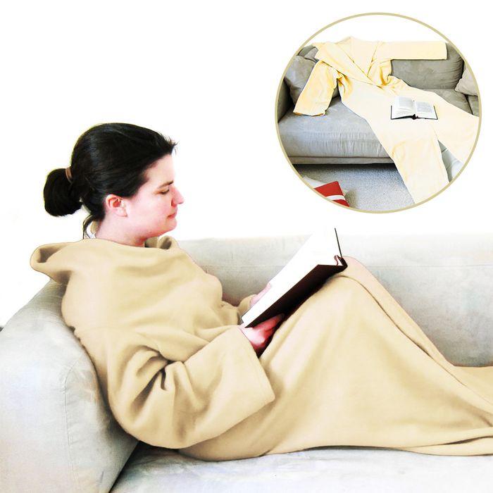 couverture manches beige. Black Bedroom Furniture Sets. Home Design Ideas