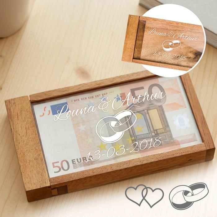 Boîte cadeau d'argent magique pour le mariage