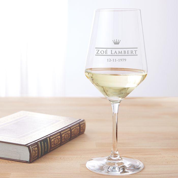 Verre à vin blanc avec gravure – Royal