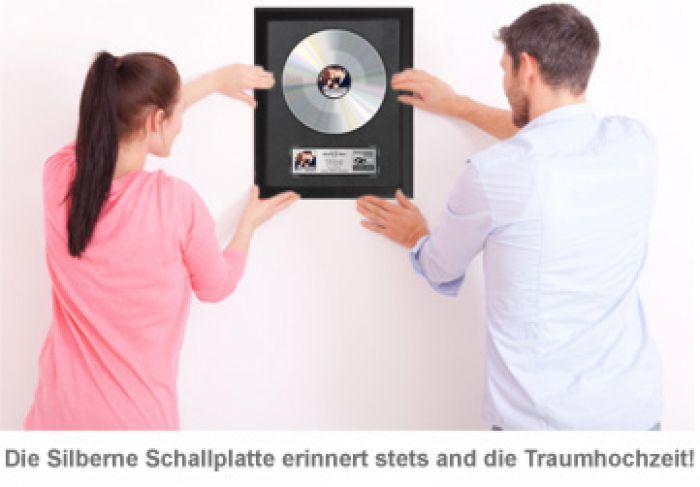 Silberne Schallplatte - Hochzeitsbild