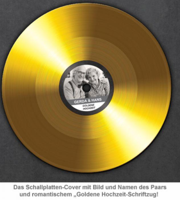 Schallplatte - personalisiert zur Goldenen Hochzeit