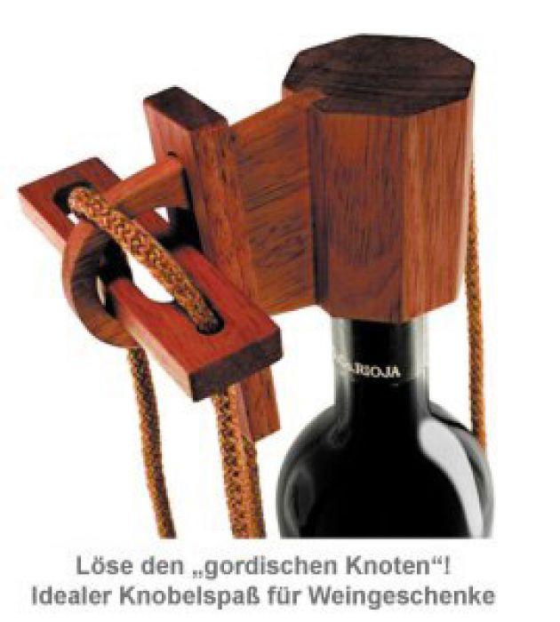 Graviertes Edelholz Flaschenpuzzle zur Hochzeit