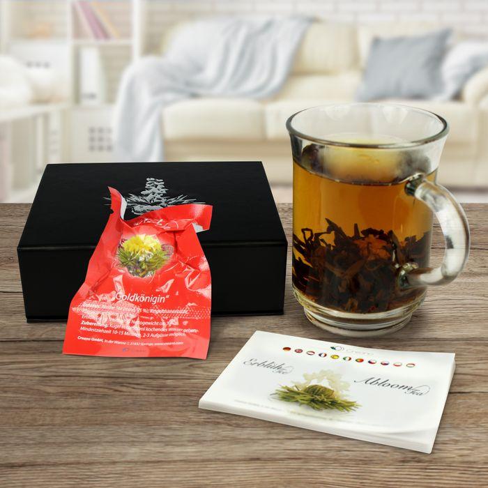 Coffret de 6 fleurs de thé - Thé blanc