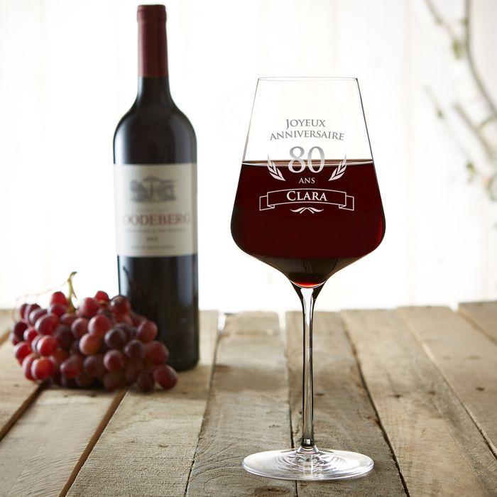 Verre à vin pour le 80ème anniversaire