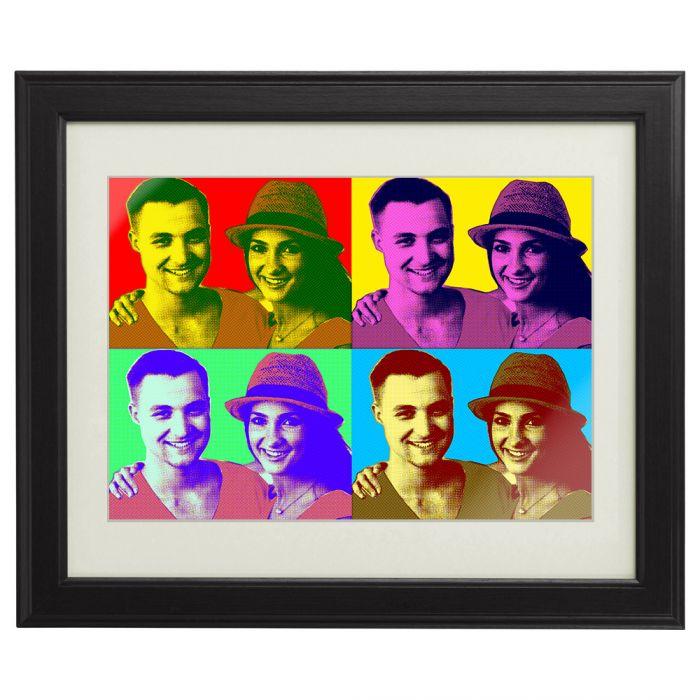 Individuellfotogeschenke - Personalisiertes Pop Art Bild fr Paare - Onlineshop Monsterzeug