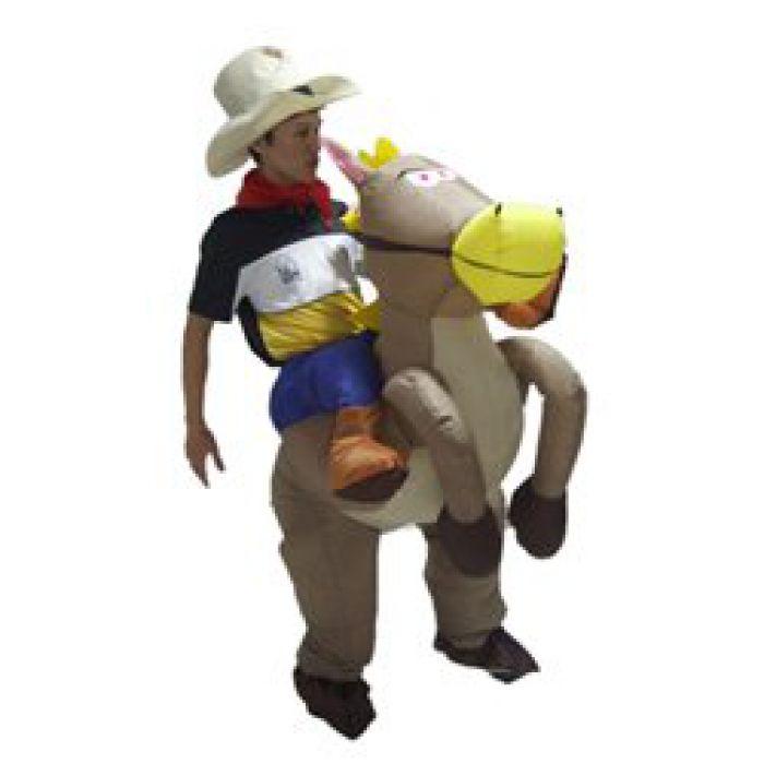 Faschingskostüm Cowboy - lustig und zum Aufblasen
