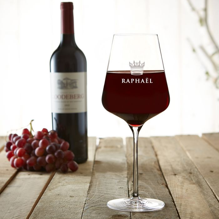 Verre à vin avec gravure – Couronne de roi
