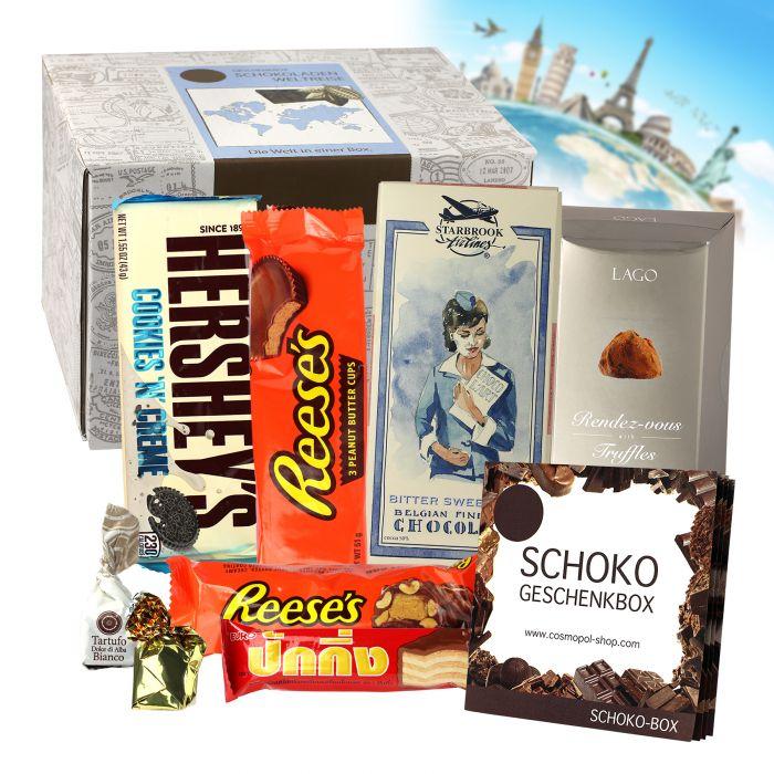Köstlichgeschenksets - Schokoreise Geschenkbox - Onlineshop Monsterzeug