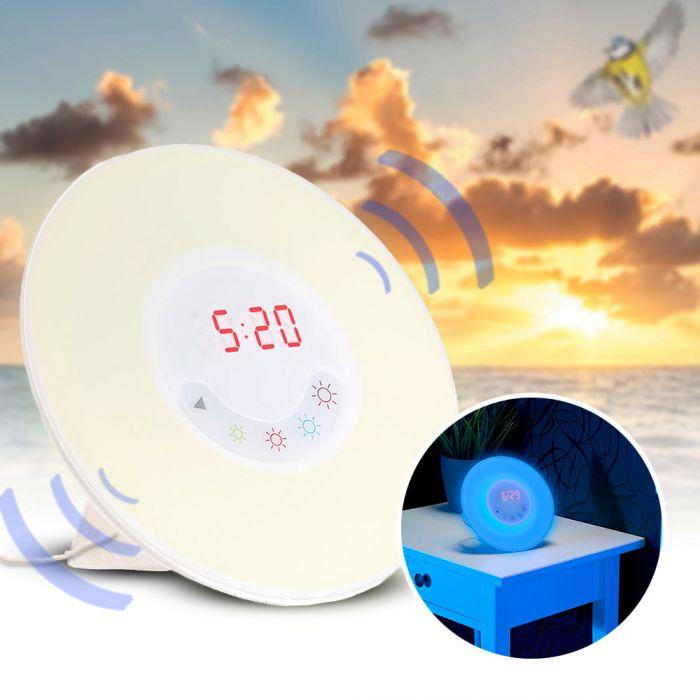 radiowecker mit led licht und naturkl ngen sonnenaufgang. Black Bedroom Furniture Sets. Home Design Ideas