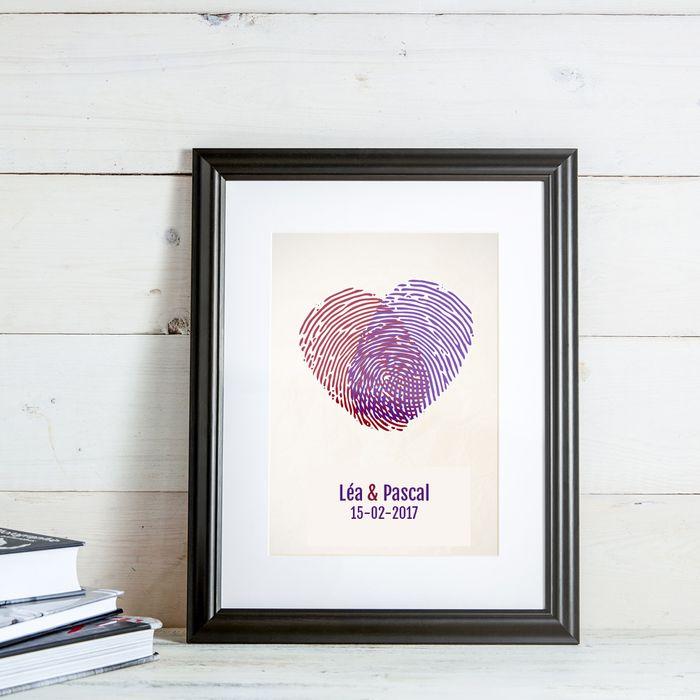 Empreintes digitales – tableau personnalisé pour couples