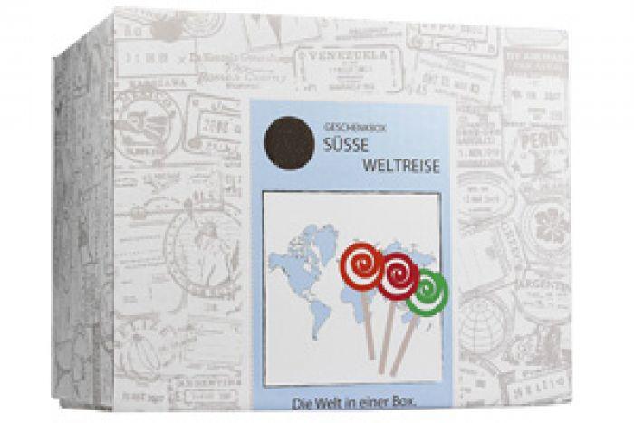 Voyage autour du monde en bonbons - coffret cadeau