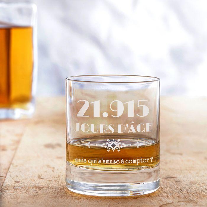 Verre à whisky avec gravure - Âge en jours