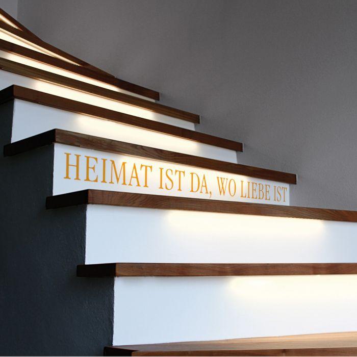 Klebetattoo für die Treppe - Heimat
