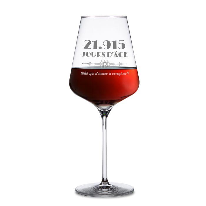 Verre à vin avec gravure - Âge en jours