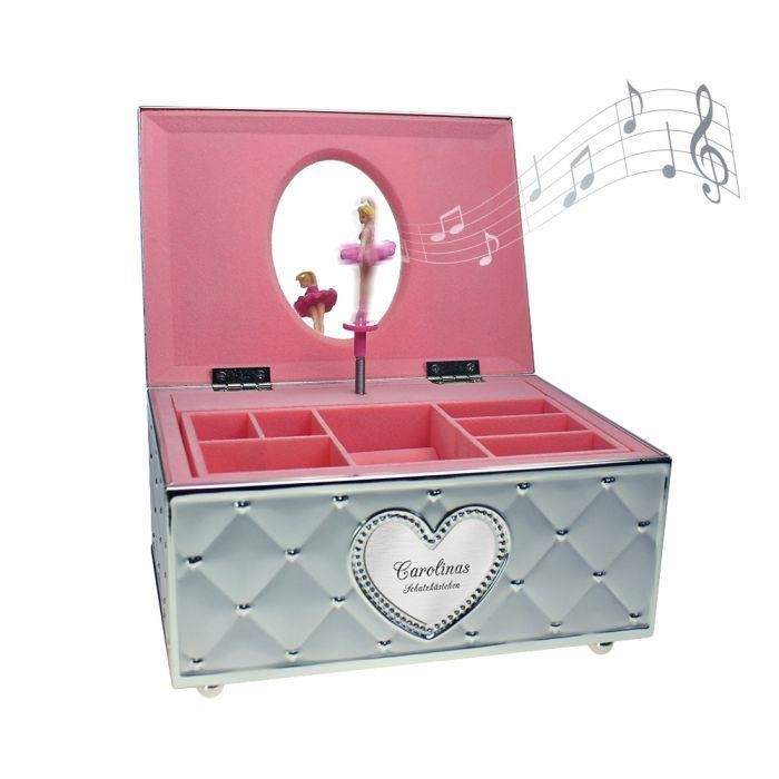 Nützlichwohnaccessoires - Personalisiertes Schmuckkstchen mit Spieluhr Ballerina - Onlineshop Monsterzeug