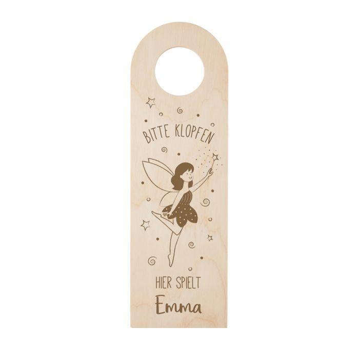 Türhänger mit Gravur für Mädchen - Fee