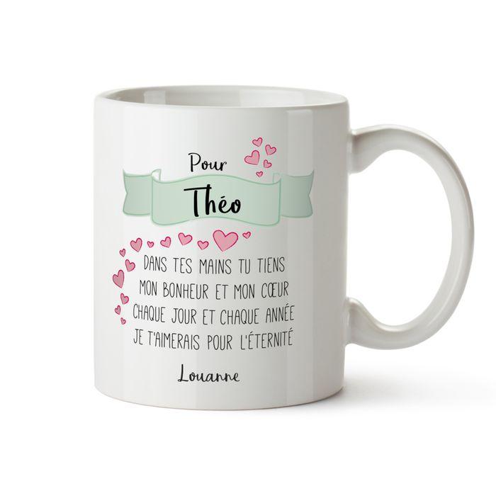 Tasse personnalis e po me d 39 amour - Idee cadeau pour son cheri ...