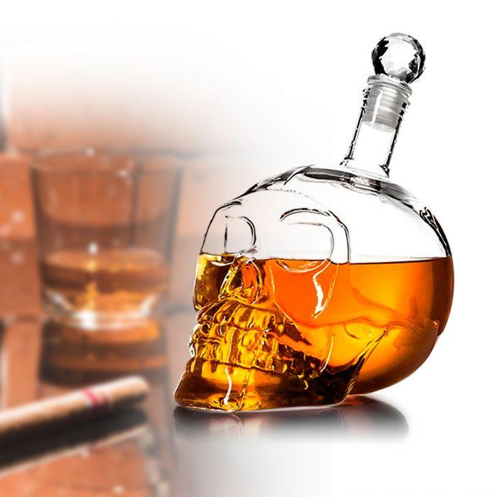 Partybedarfpartydeko - Whisky Karaffe Totenkopf - Onlineshop Monsterzeug