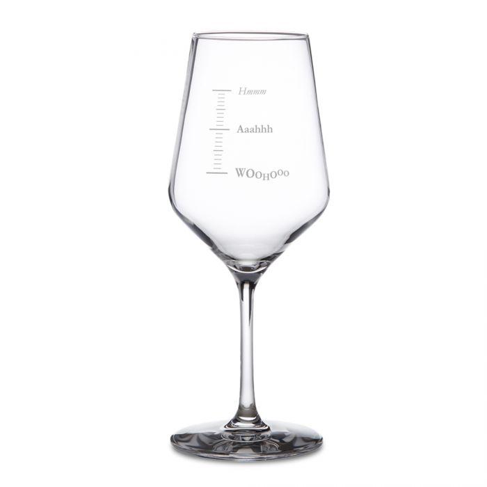 Weißweinglas mit Gravur - Woohooo