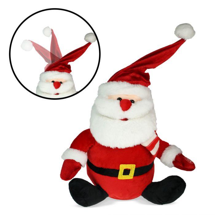 Père Noël chantant avec bonnet qui danse