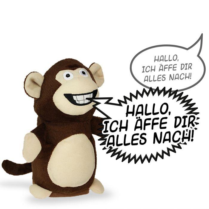 Sprechender Affe mit Aufnahme- und Wiedergabefunktion