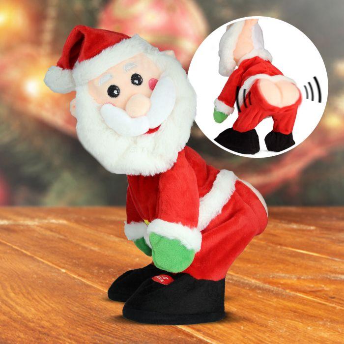Obszöner singender Weihnachtsmann - animiert mit Sound