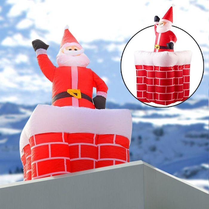 Aufblasbarer Weihnachtsmann mit Schornstein - 180 cm