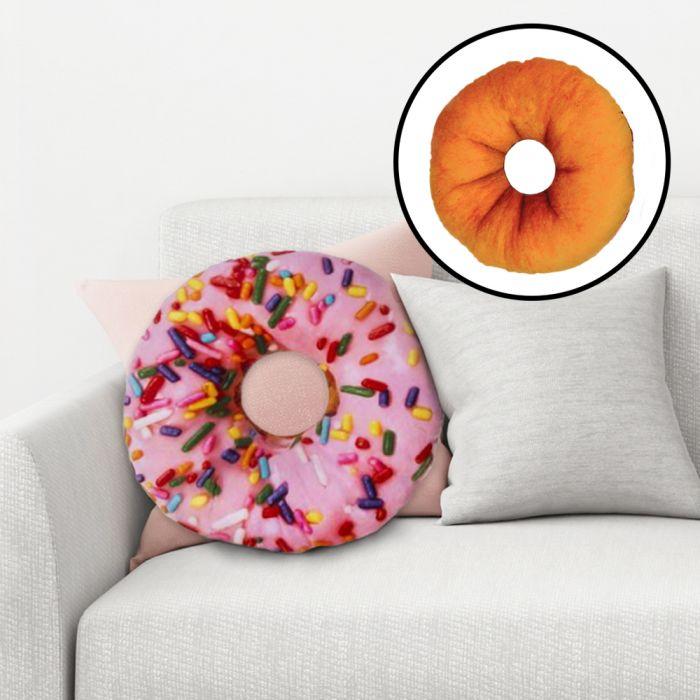 Coussin donut de déco - deux couleurs