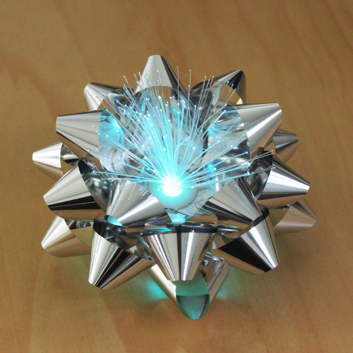 Geschenkschleife mit LED Farbwechsel
