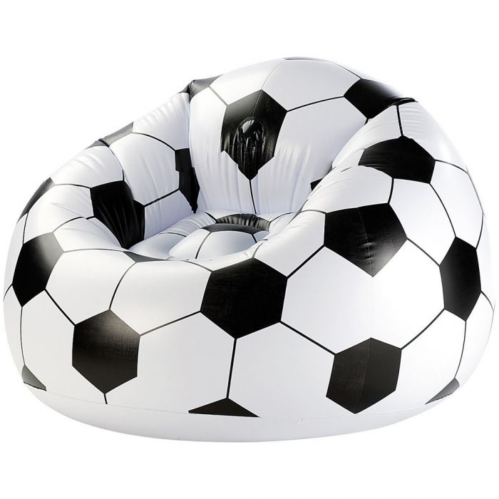 fauteuil gonflable ballon de foot xxl. Black Bedroom Furniture Sets. Home Design Ideas