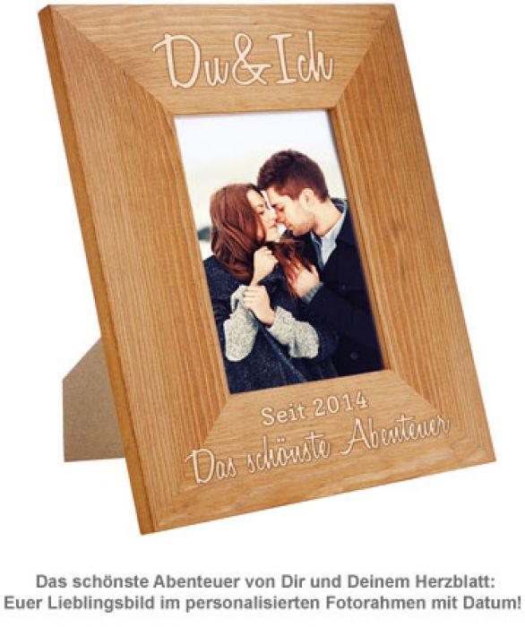 Personalisierter Bilderrahmen - Du & Ich