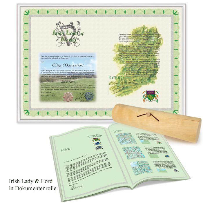 Irischer Lordtitel für Paare - Lord & Lady of Kerry