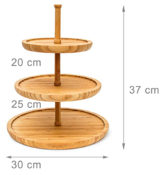 design etagere bambus 3 st ckig servierplatte f r snacks. Black Bedroom Furniture Sets. Home Design Ideas