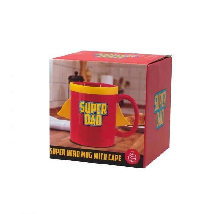 Super Dad Tasse mit Cape - mache den Papa zum Superheld!
