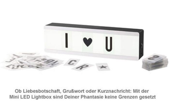 Mini LED Lightbox mit Buchstaben - Leuchtschild