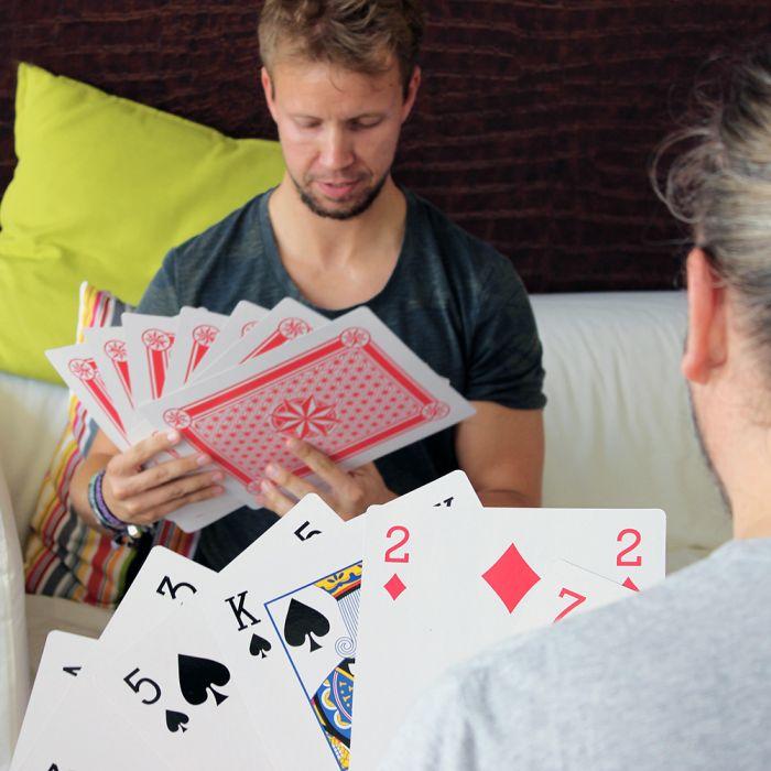 Übergroße Spielkarten XXL - 28x20 cm