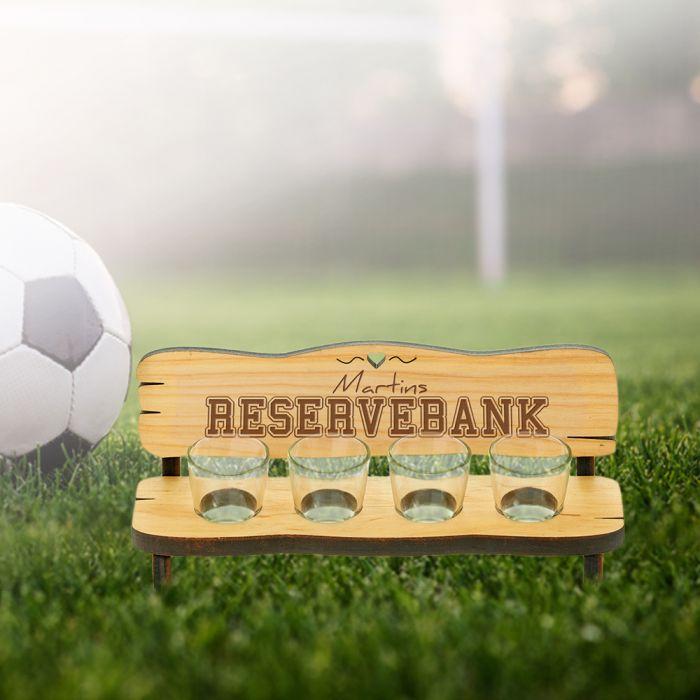Personalisierte Vierer Schnapsbank - Reservebank