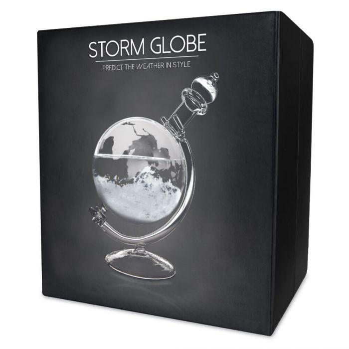 Sturmglas zur Wettervorhersage - Globus