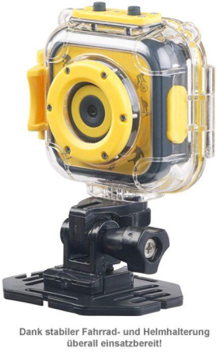 Kinderkamera HD - Action Cam mit Unterwassergehäuse