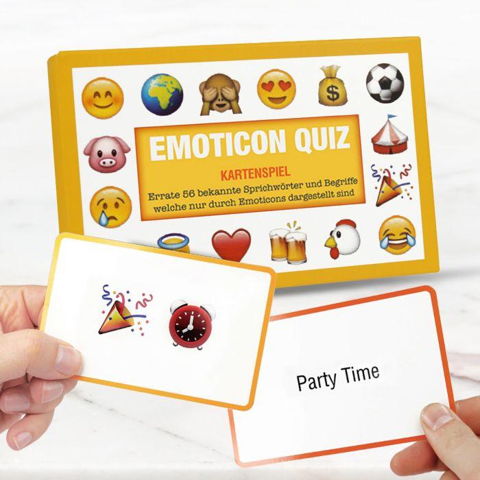 Partybedarfpartyspiele - Emoticon Quiz Kartenspiel - Onlineshop Monsterzeug