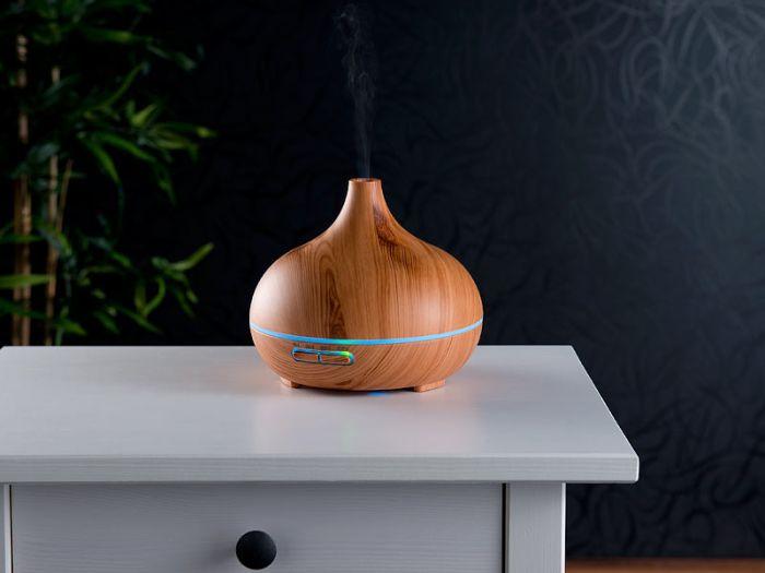 Luftbefeuchter mit Aroma Diffuser und LED Farbwechsel