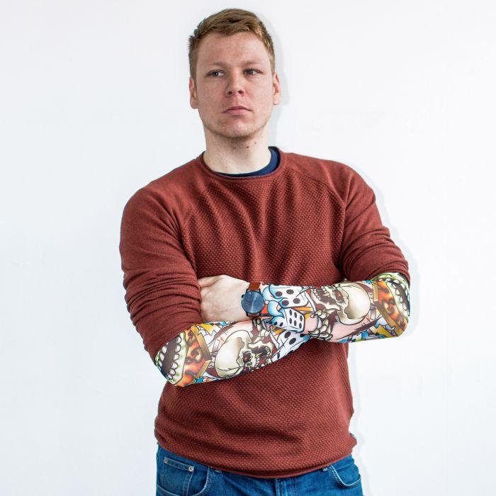 Tattoo Ärmel - Totenkopf