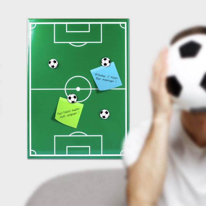 Ausgefallenkleineaufmerksamkeiten - Magnettafel Fuball Memoboard - Onlineshop Monsterzeug